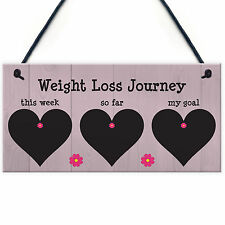 Weight Loss Tracker Chalkboard Hanging Sign Weight Watchers Progress Plaque