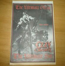 More details for ozzy osbourne ultimate sin 1986 full page press advert poster size  37/26cm