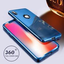 Coque Protection Intégrale Pour Iphone 7 Plus Miroir Couleur Bleue + Vitre de P