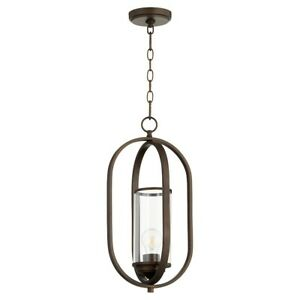 Quorum Collins 1 Light Pendant, Oiled Bronze - 3044-86