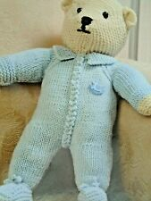 "TOY TEDDY BEAR KNITTING PATTERN  14  1/4 "" HEIGHT DOUBLE KNITTING  - NO  251"