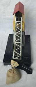 Lionel Trains No.97 Operating Coal Elevator tin model RR building w/ coal parts
