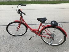 2010 YTO IPED Folding Bicycle Red Strokin' LLC Economical Urban Ride 6 Speed