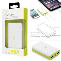 Genuine KIT 6000mAh Portable Dual USB LED Light Smartphone Powerbank Charger UK