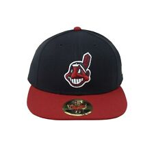 timeless design 0773a 5ed11 New ListingCLEVELAND INDIANS NEW ERA HOME LOW PROFILE CHIEF WAHOO LOGO FITTED  HAT SZ 7 3 8
