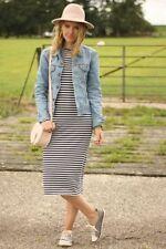Zara Cotton Long Sleeve Striped Dresses for Women