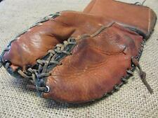 Vintage Leather Canada Goalie Hockey Glove > Antique Old Sports Equipment 9017