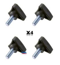 Handwheel Handle Knob Tri Style Hand Wheel Spinners M8 x 20mm Pack of 4