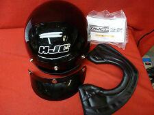 HJC CS-2M Black Half Motorcycle Cool Cruiser Helmet Small Size DOT with Visor
