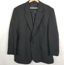 English Manor Mens Jacket Size 46R Gray Pinstripe Sport Coat Blazer