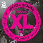 D'Addario EXL170-5TP, Light, 45-103, 2 jeux, cordes longues - jeu guitare basse