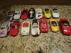 Porsche Diecast Die Cast Model Toy Cars 1:431:40 Pull Back Action Lot of 14