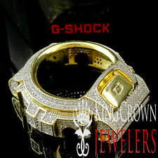 ICED OUT MENS WOMENS YELLOW GOLD FINISH CUSTOM G-SHOCK BEZEL LAB DIAMOND DW 6900