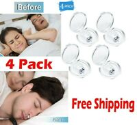 x4 Anti Snore Nose Clip Silicone Stop Snoring Sleeping Magnetic Aid Apnea Guard