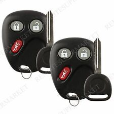 2 Replacement for 2003 2004 2005 2006 Chevy Avalanche Tahoe Remote Key Fob Set
