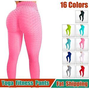 Women Push Up Leggings Yoga Pants Anti-Cellulite Booty Ruched Gym Shaper Tik Tok