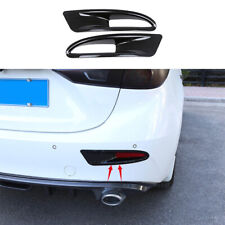 2pc Carbon fiber color rear fog lamp cover trim Fit For MAZDA3 Axela Sedan