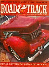 1965 Road & Track Magazine: Corvair Powered Cord Sportsman/BMW 1800 TI/MKIII