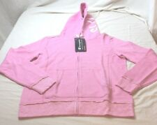 Champion Life Women's European Collection Distressed Full Zip Hoodie Pink Large