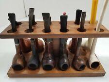 Twelve Vintage Tobacco Pipes w/ Wood Stand