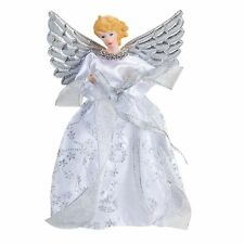 21cm Christmas Tree Topper Angel Decoration - Silver