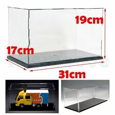 31cm Acrylic Plastic Display Case Perspex Box Dustproof Self-Assembly Protection