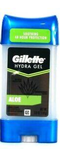 1 Count Gillette 3.8 Oz Hydra Gel Aloe Soothing 48 Hr Antiperspirant Deodorant