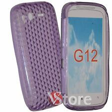 Cover Custodia Per HTC Desire S Viola Gel Silcone TPU Diamond