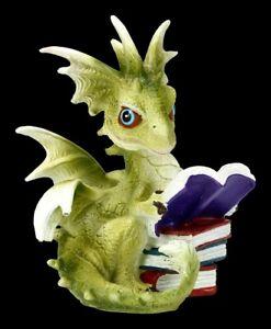 Drachen Figur - Dragon Tales - Fantasy Lesedrache Drachenkind Deko
