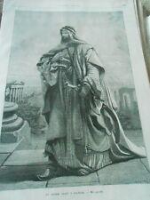 Gravure 1872 - Un Cheikh Arabe à Palmyre