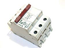 MOELLER 3 POLE 6 AMP LOW VOLTAGE 220/380 VAC CIRCUIT BREAKER DIN MOUNT FAZ-G6A