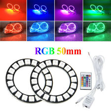 IR Control RGB LED Angel Eyes Light 2x 50mm 5050 18SMD Headlight with Halo Ring