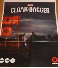 "PROMO MARVEL FREEFORM CLOAK AND DAGGER 33""x26"" TV SERIES POSTER"