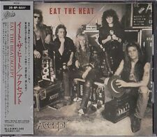 Accept Eat The Heat Japan 1st CD Obi 1989 25・8P-5227