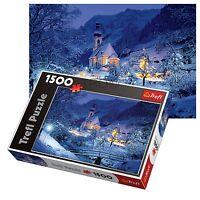 Trefl 1500 Piece Adult Large Ramsau Night Bavaria Alps Floor Jigsaw Puzzle NEW