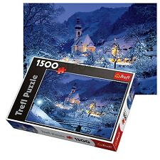 Trefl 1500 Piece Adult Large Ramsau Night Bavaria Alps Floor Jigsaw Puzzle New