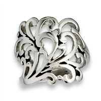 0d704e471cf7f Victorian Style Filigree Spoon Wrap Thumb Ring Stainless Steel Band ...