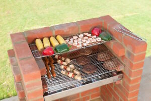 Brick BBQ Kit + Ember Guard + 100% Stainless Steel kit 67 x 39 Black Knight 501