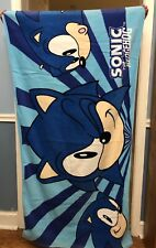 Sega Official Licensed Classic Sonic The Hedgehog Beach Towel Pre Owned Rare