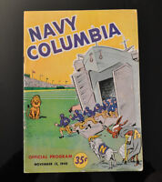 1948 Navy - Columbia Official Football Program - Vintage Sports - RARE