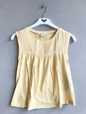 Roxy Girls Children Kids Yellow Sleeveless Shirt Casual Top - Girls Size 10
