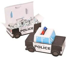 POLICE OFFICER PARTY POLICE CAR LOLLY TREAT FAVOUR SNACK BOXES (PACK OF 12)