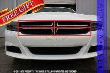 GTG 2015 - 2018 Dodge Charger 4PC Gloss Black Custom Overlay Billet Grille Kit