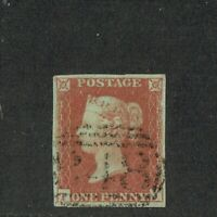 GB QUEEN VICTORIA 1841, £350.00, 1d RED-BROWN, 4 MARGINS, of Pl.8, SG7, FU/VFU
