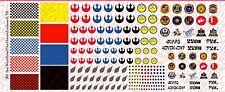 1/6 Scale Decals: Star Wars Rebel Pilot custom Helmet Set - Waterslide Decals