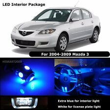 7PCS Blue Interior LED Bulbs for 2004 - 2009 Mazda 3 Mazda3 White for License