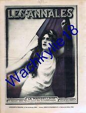 Les annales n°1672 du 11/07/1915 Marseillaise Madeleine Roch John French