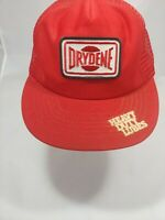 VTG Drydene Snapback Hat Cap Red Made In USA One Size Fits All