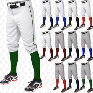 Easton Pro + Knicker Style Adult Men's Piped Braided Baseball Pants A167105