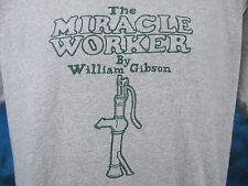 vtg 80s THE MIRACLE WORKER PLAY WILLIAM GIBSON T-Shirt M/L theatre helen keller